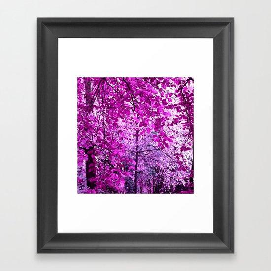 purple forest II Framed Art Print