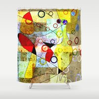 kandinsky Shower Curtains featuring Without incident by Kay Weber