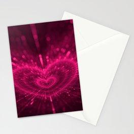 Purple Love Heart, Happy Valentine's Day Pattern Stationery Cards