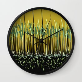 Grass Rhythm by Night Wall Clock