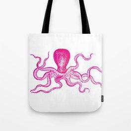 Hot pink octopus Tote Bag
