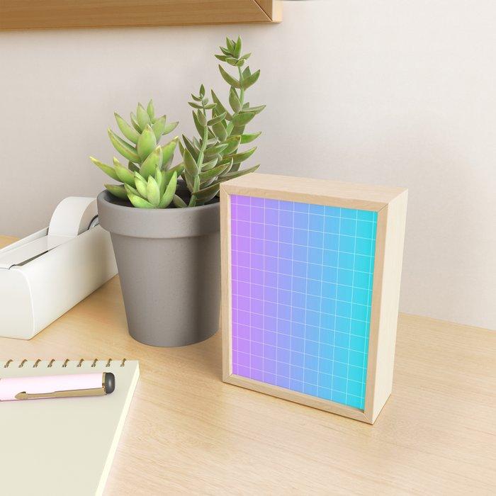 Vaporwave Gradient Framed Mini Art Print