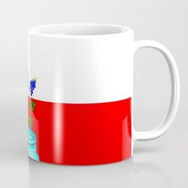 A Texas Flag and Blue Bonnets in a Jar Coffee Mug