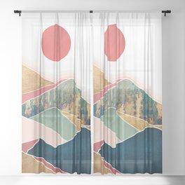 Spring Dusk Sheer Curtain