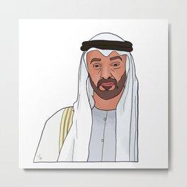 Mohamed Bin Zayed Metal Print
