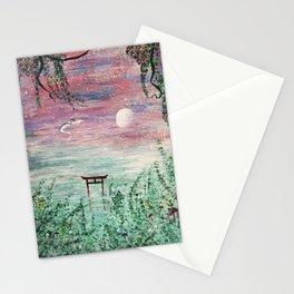 Haku and Chihiro Painting Stationery Cards