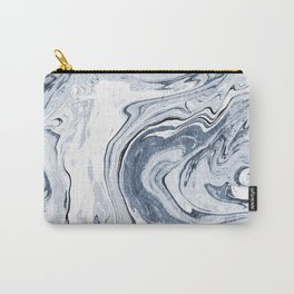 Kiyomi - spilled ink japanese monoprint marble paper marbling art print cell phone case with marble Carry-All Pouch