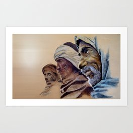 FREE SPIRITS - sunny version Art Print