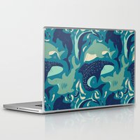 sharks Laptop & iPad Skins featuring Sharks by Dani Tea