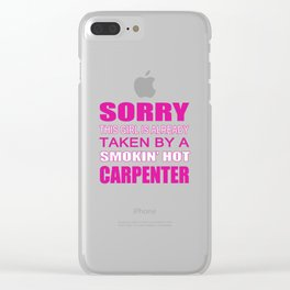 Taken By A Carpenter Clear iPhone Case