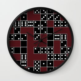 Domino Pattern Wall Clock