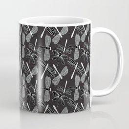 Dragonfly White and black Coffee Mug
