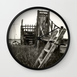 Rickety old Jetty Wall Clock