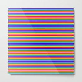 Tiny stripes of rainbow colors Metal Print