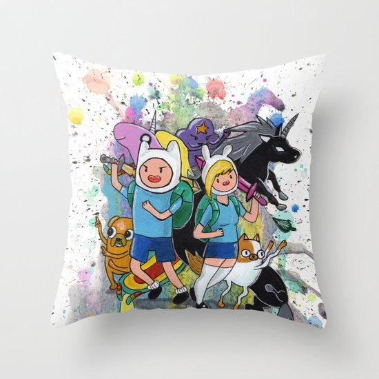 It's Time... It's ADVENTURE TIME Throw Pillow