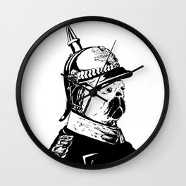 The Emperor Pug Wall Clock