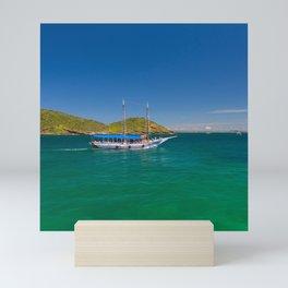 Boat ride in Buzios, Rio de Janeiro (Brasil) Mini Art Print