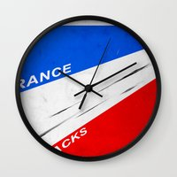 tour de france Wall Clocks featuring tour de france, all gone. by filippob