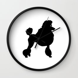 Poodle Dog Breed black Silhouette Wall Clock