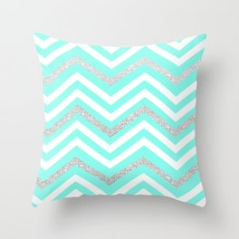 Turquoise Sparkle Throw Pillow