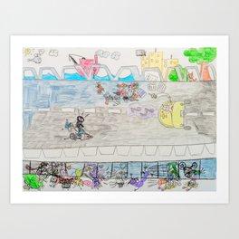 Kelly Bruneau #11 Art Print