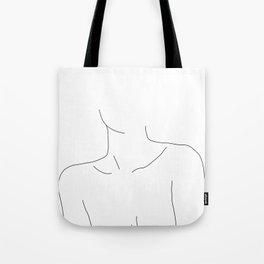 Neckline collar bones drawing - Erin Umhängetasche