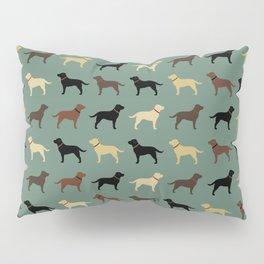 Labrador Retriever Dog Silhouettes Pattern Pillow Sham