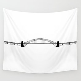 Sydney Harbour Bridge Silhouette Wall Tapestry