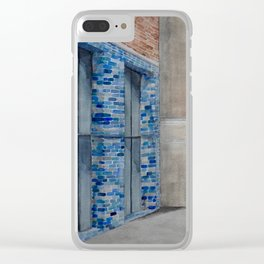 Blue Tiles Clear iPhone Case