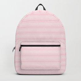 Large Light Soft Pastel Pink Mattress Ticking Stripes Backpack