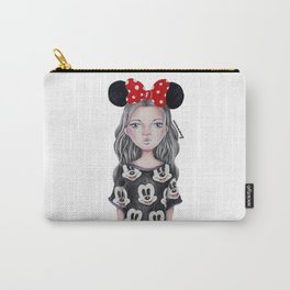 Minnie Mouse Inspired Style Girl Drawing Carry-All Pouch