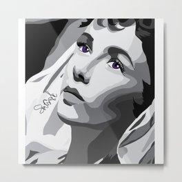 Elizabeth Taylor - Purple Eyes Metal Print
