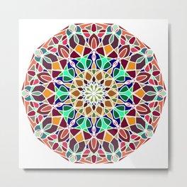 Mandala Indian decorative pattern. Metal Print