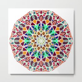 Mandala Indian decorative pattern. Metal Print