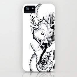 Curled Canine iPhone Case