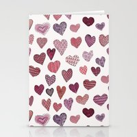 artsy Stationery Cards featuring Artsy Hearts by Shifra Whiteman