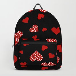 Valentines Hearts black Backpack