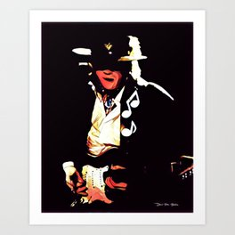 Caught In The Crossfire - SRV - Graphic 1 Art Print