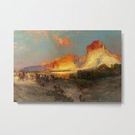 Green River Cliffs, Wyoming Landscape by Thomas Moran Metal Print