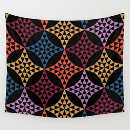 Triangle mosaic Wall Tapestry