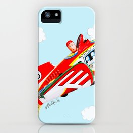 """Up, up and away!"", the rocket man yelled.  iPhone Case"