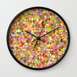 Mixcolor Colorful Geometric Pattern Wall Clock