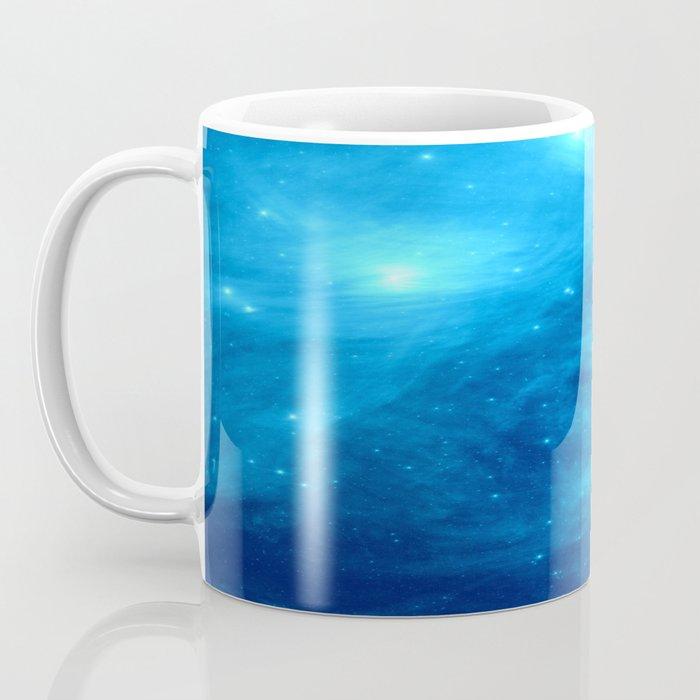 Blue Galaxy : Pleiades Star Cluster nebUla Coffee Mug