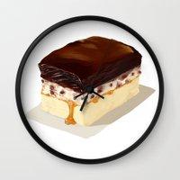 chocolate Wall Clocks featuring chocolate by Winnie draws