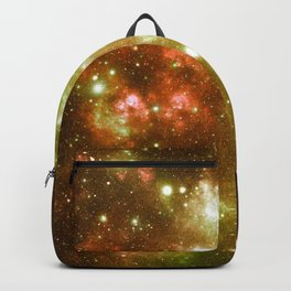 Golden Brown & Green Galaxy Nebula Backpack