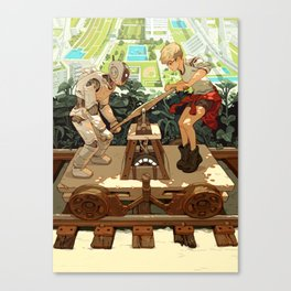 """Don't Worry, Smart Machines Will Take Us With Them"" by Sachin Teng for Nautilus Canvas Print"