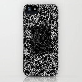 Black and white marble texture 8 iPhone Case