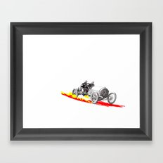 Classic Race Car Number 7 Framed Art Print