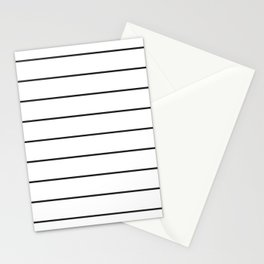 SKINNY STRIPE ((black on white)) Stationery Cards