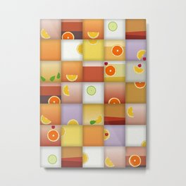 cocktail squares Metal Print
